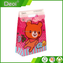 colored pp plastic bag used for gift advertisement promotion with bear pattern