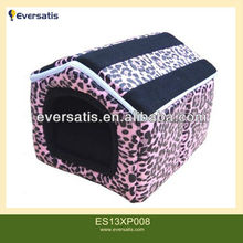 Pink Leopard Point Spell Roof Pet House