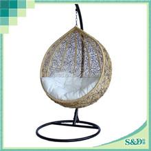 china outdoor furniture garden/patio outdoor rattan hanging chair wholesale