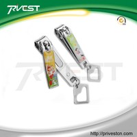 Portable Cartoon Epoxy Design Gift Toe Nail Clippers with Keyring