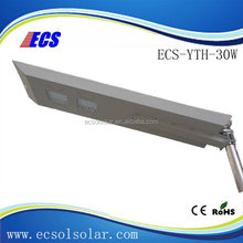 Long lifespan all-in-one led solar street light 30W with China manufacture price