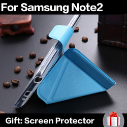 Cheap Smart Magnetic Cover Luxury Stand Phone Case For Samsung Note 2