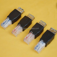USB A Type Female to Ethernet RJ45 Male Plug Connector Adapter