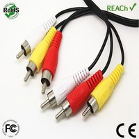 3 rca to 3rca extension splitter double shielded rca cable