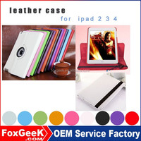 New products on China market Hot selling leather tablet case flip cover tablet case for ipad 2 3 4