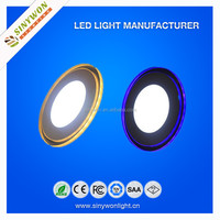 Special Offer 10W 15W 20W Round Led Panel Light with Glass Blue Ring