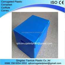 polypropylene pp fluted plastic archive storage box