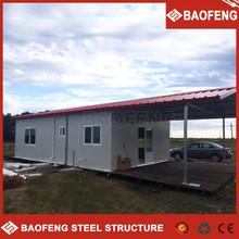 modern comfortable luxury galvanized prefabricated house one store