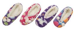 Wholesale socks double layer PVC dot cotton velvet lining women's room sock