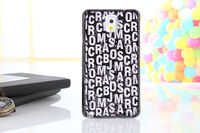 Fashion Tinfoil Letter Mobile Phone Case Back Cover for Galaxy Note 3 N9000 Case