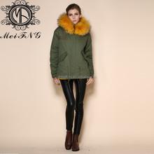 2015 Fashion Ginger fur outerwear Fur Coat Women Ladies Long Rabbit fur coat cape for women