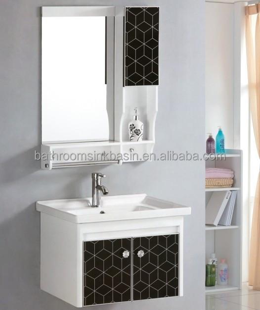 Móveis PVC  barato PVC armário de banheiro  arábia saudita vaidade do banhe -> Armario Para Banheiro Pvc