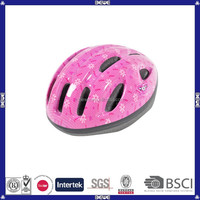 Beautiful pink 15 vents bicycle helmet for girls