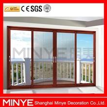 aluminum balcony sliding patio door/sliding door with sliding screen