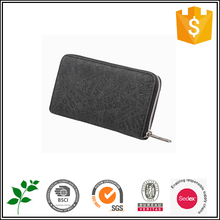 ISO9001 audited factory black polyester washable zipper clutch lady purse