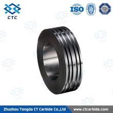 Plastic pr6.0 125x82x15mm tungsten carbide rolls for forming smooth steel wires