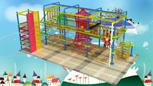 Kids Indoor adventure playground net bridge rope nets playground