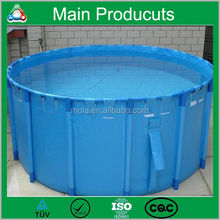 New Design Products Portable Flexible Cube Structure Fish Farming Tanks for Sale for Farming with Covering