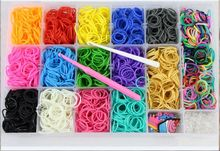 2014 fashion design diy colored rubber loom bands bracelet ,crazy loom bands wholesale for children Popular Economic Loom Bands