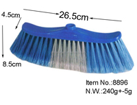 HQ8896 for outdoor cleaning Chile market PP plastic color hard broom head