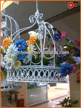 A-1 Two kits most popular iron art home decoration basket of flowers wrought iron craft
