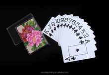 2015 popular clear plastic box for playing cards for display
