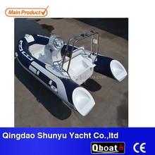 CE rigid double hull fiberglass rib boat