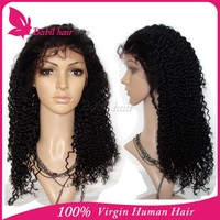 110% 130% to 180% density natural braided silk base afro kinky indian women hair lace front brazilian human hair full lace wig