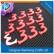BAICHENG red car emblems that are designed in letter, number and shield etc. shapes are bright and cheap