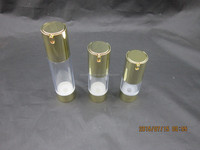 Bottle for serum /AS material airless bottle with gold uv coating 15ml,30ml,50ml