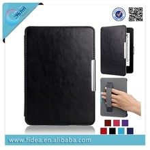 crazy horse flip leather case for kindle paperwhite 2 with bond function