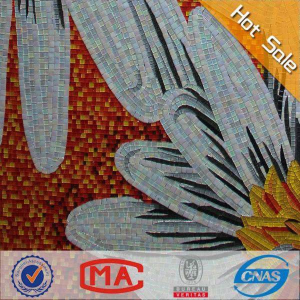 Mod les murales fleur de mosa que vente chaude mosa que de for Soleil decoratif mural