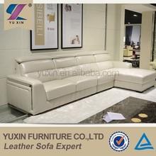 New design living room furniture modern leather top grain sofa