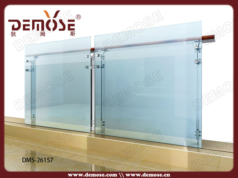 Prefabricada de acero cristal de la escalera barandilla - Escalera caracol prefabricada ...