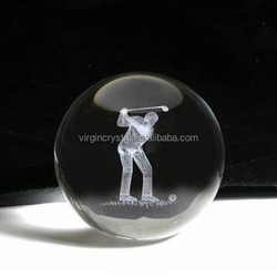 High Quality Round 3D Laser Engraved Golf For Office Decoration
