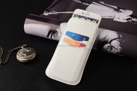 White PU leather housing, pouch for iphone, slip in function