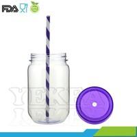 Hot selling !! 18OZ Single Wall plastic mason drinking jars