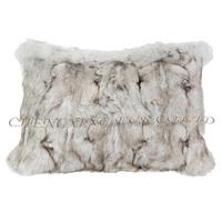 CX-D-45A Home Decor Pillow Cases Real Fox Fur Cushion Covers Decorative
