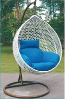 outdoor white rattan swing hanging egg shaped sex chair