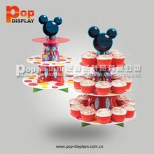 Shenzhen cardboard display factory 3 tiers paper cupcake stand