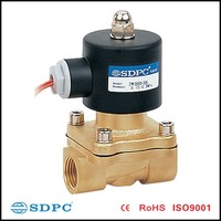 electric water shut off valve ,2ways brass water valve 2W200-20 made in China
