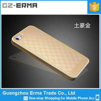2015 New PC TPU Bulk Rock Case for iPhone 5 with Gold Metal Patten