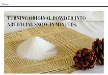 100 G súper ventas nuevo tipo artificial de nieve para CHRISMAS decoración