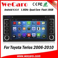 Wecaro WC-TU6229 android 4.4.4 car gps navigation for toyota terios car radio tv dvd 2001 - 2008 3G wifi playstore