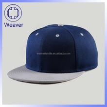 Blue Cotton 6 Panel Plain Blank Snapback Cap / Custom Curve Brim Snapback Cap And Hat