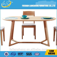 Foshan Liansheng furniture Farm Table Dining Table Rustic Design/Vintage Solid Pine Wood Farmhouse Dining Sets DT007-2