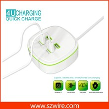 4 port usb charger,travel charger,multi charger