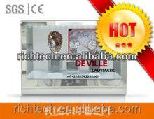 """Richtech 12 """" três lado / one - vídeo lado transparente display com tela lcd"""