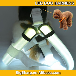 50pcs Colorful High-Light pet LED dog harness,Flashing LED safe pet collar ,dog led collars and leashes DH-2504