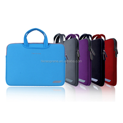 Hong Kong soft neoprene 13.3inch neoprene laptop sleeve with carrying and pocktet